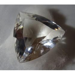 Cristal de roche facettes triangle